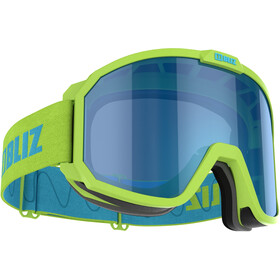 Bliz Rave Goggles Kinderen, matt lime green/brown-blue multi